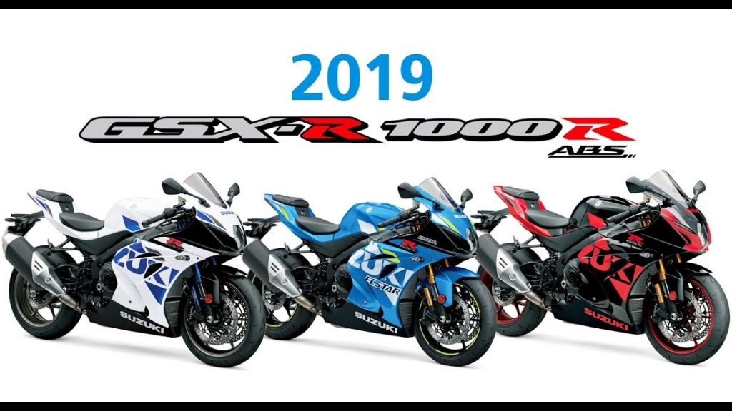 6 Colors of the Suzuki GSX-R1000 and GSX-R1000R 2019, The muffler is Black!